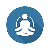 Yoga Fitness Icon. Flat Design.