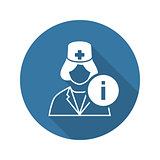 Medical Services Icon. Flat Design.