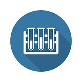 Laboratory Icon. Flat Design.