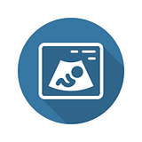 Ultrasonography Icon. Flat Design.