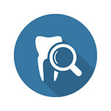 Dental Care Icon. Flat Design.