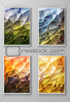 Brochure with Multicolored Polygonal Backgrounds