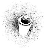 graffiti cross spray design element in white on black