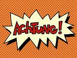 Achtung warning German language