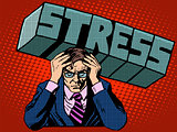Stress problems severity businessman business concept