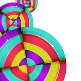 Abstract colorful rainbow curve background design.