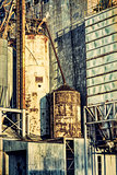 old grain elevator abstract
