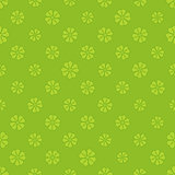St Patrick clover seamless pattern