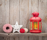 Christmas candle lantern and decor