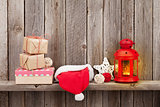 Christmas candle lantern, gifts and decor