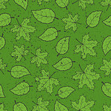 Seamless leaves grunge pattern