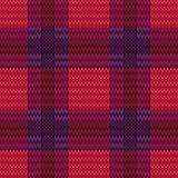 Knitting seamless checkered pattern