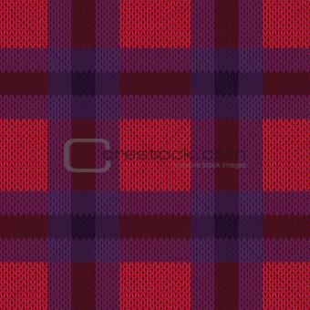Knitting seamless checkered texture