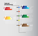 Vector timeline infographics