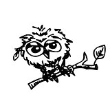 cute little owl cartoon sketch
