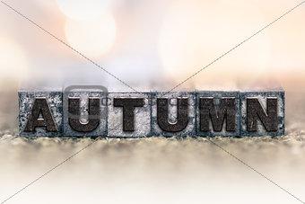 Autumn Concept Vintage Letterpress Type