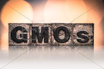 GMOs Concept Vintage Letterpress Type