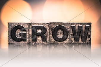 Grow Concept Vintage Letterpress Type