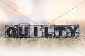 Guilty Concept Vintage Letterpress Type