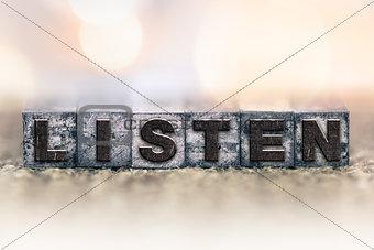 Listen Concept Vintage Letterpress Type
