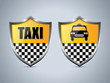 Taxi shield badge design set