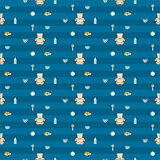 cute blue baby boy seamless pattern