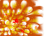 Abstract vector fractal with roses. EPS10 vector illustration