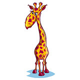 Image of a sad cartoon giraffe