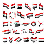 set of flags for Syria