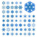 Set of snowflakes for Christmas
