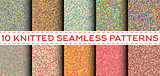 Set of 10 knitted seamless patterns