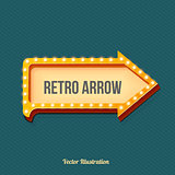 Volume retro arrow with lights