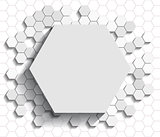Hexagon flat background