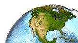 North America on Earth