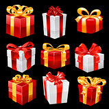 Gifts. Vector set