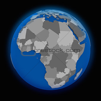 Africa on political Earth