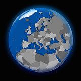 Europe on political Earth