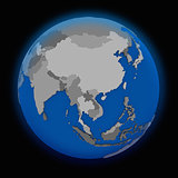 southeast Asia on political Earth