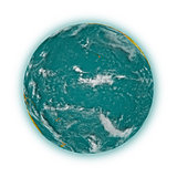 Pacific Ocean on planet Earth