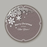 Christmas snowflakes Greteeng Card