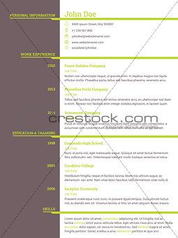 Modern resume cv template for job seekers