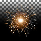 Fireworks on a transparent background