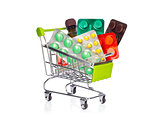 Shopping cart with medication