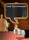 Chef Recommends - Empty Blackboard