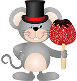 Mouse holding candied apple