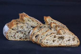 fresh bread slices