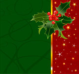 Holly Berry Christmas Background