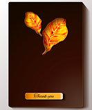 Thanksgiving - black greeting card design