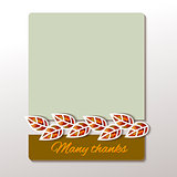 Thanksgiving - greeting card design