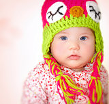 Little girl wearing hat